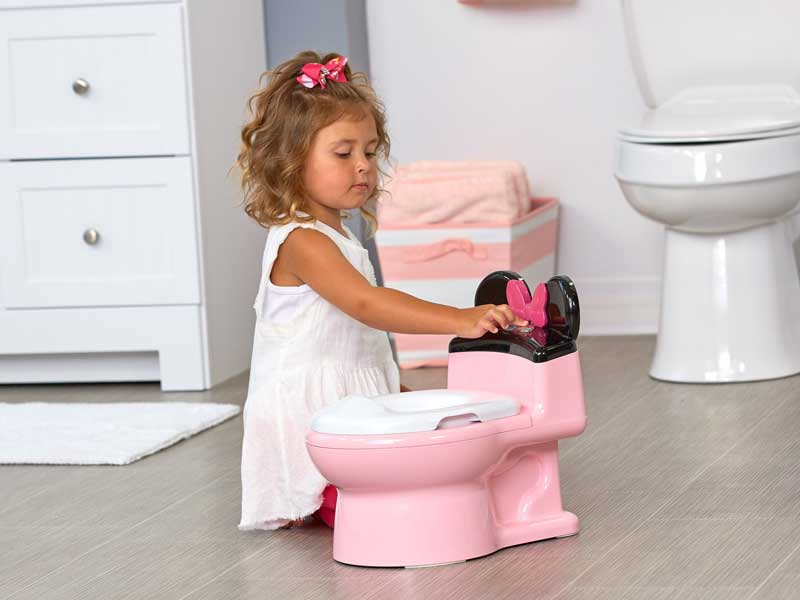 potty chair vs potty seat: minnie mouse imagin action potty and trainer seat